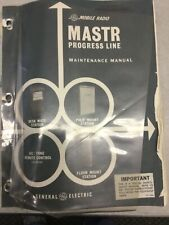 Vintage Ge Mastr Progress Line Vhf Repeater Base Service Manual Ham