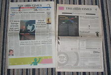 THE TIMES 12 AUG 1999 BUSINESS, SPORT & JOB ADVERTS - HOW THINGS CHANGED! VGC