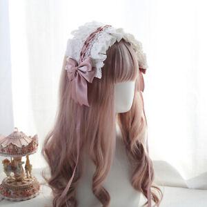 Women Lace Floral Headband Gothic Headwear Hairband Hair Accessory Maid Cosplay