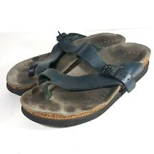 MEPHISTO Size 39 Sz 9 Women's Black Leather Helen Sandals
