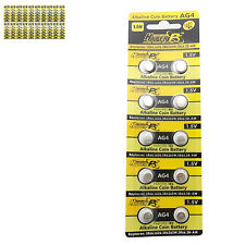 200 pcs AG4 D377 L626 SR66 SR626SW 1.5V Alkaline Button Cell Battery HyperPS