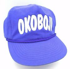 Vintage Okoboji SnapBack Purple Hat Okoboji IA by Cobra Cars