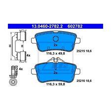 ATE 13.0460-2782.2 Bremsbelagsatz, Scheibenbremse  Hinten für Mercedes-Benz