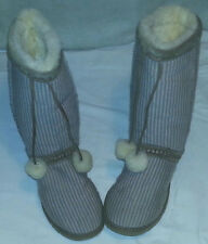 UGG 5826 CLASSIC TALL WOOL KNIT STRIPED BOOTS  US 6