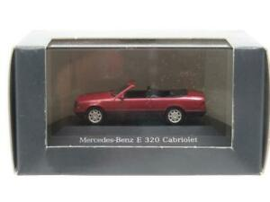 Herpa Modellauto Mercedes Benz E320 Cabriolet Red 1 87 Scale Dealer Model Boxed