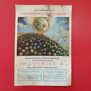 SUNRISE Midsummer Nights Dream 24th June 1989 Rave Flyer