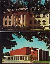 Lot of 2: College of Idaho, Caldwell. ID. Men's Dormitory, Chapel. 1960s.