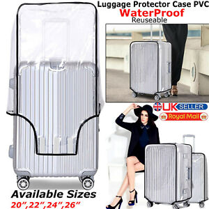 Clear Plastic Transparent PVC Luggage Cover Suitcase Protector Covers 20-28 inch