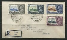 Nyasaland KGV 1935 Silver Jubilee set on a registered cover