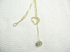 RARE  Michael Anthony 14k gold 22 inch Lanyard Necklace with Heart 4.2g