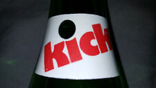 KICK Red White Green ACL Green Glass Soda Pop Cola Bottle 10 Oz. No town name