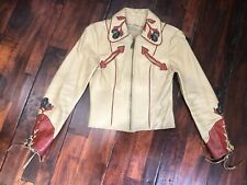 East West Musical Instruments Rodeo Jacket Coat Leather 60s 70s Boho Hippie