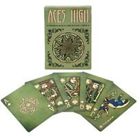 Aces High Premium Green Playing Cards with Custom Half Baked Face Cards