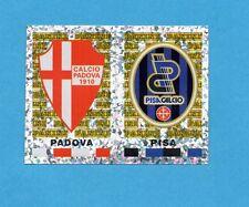 PANINI CALCIATORI 2001/2002- Figurina n.629- PADOVA+PISA - SCUDETTO -NEW