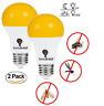 2 Pack LED Dusk to Dawn A19 Bug Light Bulbs, Yellow Bulb, Amber Light, LED Bulb