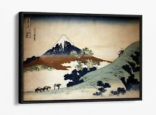 HOKUSAI MOUNT FUJI -FLOAT EFFECT CANVAS WALL ART PIC PRINT
