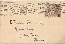 GB KGV Stationery EMPIRE EXHIBITION 1½d Letter Card West Kensington 1924 K141