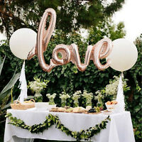 "42"" Rose Gold Love Letter Script Foil Balloon Hen Party Wedding Decor Engagement"