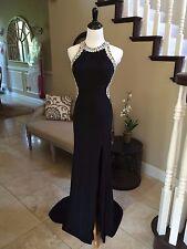 $338 NWT BLACK LANDA SPLASH PROM PAGEANT/FORMAL DRESS/GOWN #J428 SIZE 2