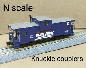Montana Rail Link MRL extended vision cupola caboose N scale Atlas Micro Trains