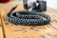 Braided Camera Strap - Black Camo - built by apmots - Paracord Shoulder Sling