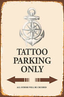 Tatuaje Estacionamiento Sólo Ancla Letrero de Metal Arqueado Cartel Lata