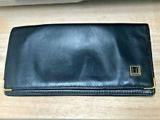 Vintage Dunhill Leather Long wallet Card Case Black