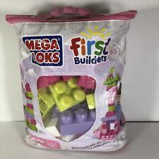 Mega Bloks First Builders 60 pc Piece Blocks Girl Colors Pastel Age 1 - 5