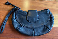 Cole Haan Leather Wristlet Black Women's Small Bag Night Out Basic