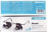 Lupenbrille BINOKEL, 20-fache Vergrößerung, mit LED