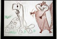 T HEE Turtle & Squirrel Ruff  Sketches Animation Drawing Walt Disney Artist