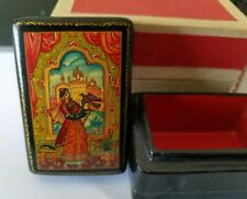 Russian Lacquer Box - Vintage -  Lucy Maxym Collection - Fenist The Falcon