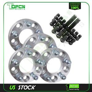 """4Pc 1"""" 25mm Thick 5x4.5 5x114.3 1/2"""" wheel spacers 23Pcs Lug Nuts+2 Keys"""