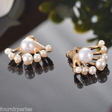 FP 1 Paire Boucles D'oreilles Clous Puce Perles Mignon Bijoux Fantaisie Femme