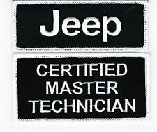 JEEP CERTIFIED MASTER TECHNICIAL SEW/IRON ON PATCH EMBROIDERED MOPAR 4X4 SRT8