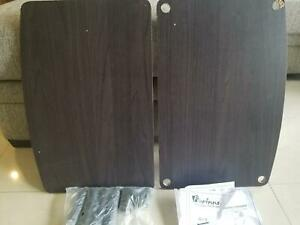 Furinno Turn-N-Tube No Tools 2-Tier Elevated TV Stand, Dark Walnut