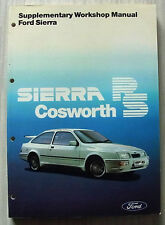 FORD SIERRA RS COSWORTH Car Supplementary Workshop Manual Jan 1986