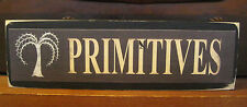 Primitives with Crow Primitive Rustic Wooden Sign Block Shelf Sitter