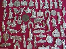 50 Silver Milagros Charms Day of the Dead Ex Voto Nicho Miracle