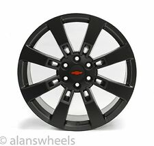 "4 NEW Chevy Suburban Tahoe Satin Black Red Bowtie 22"" Wheels Rims Lugs 5409"