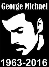 GEORGE MICHAEL TRIBUTE VINYL DECAL STICKER CAR WINDOW LAPTOP GAME SYSTEM WALL