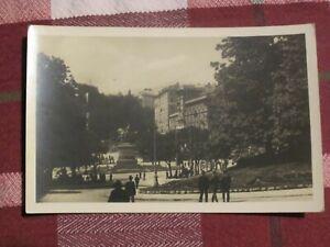 1930s Vintage Italian Postcard Genoa Genova Piazza Corvetto Card No. 66347