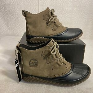 Sorel Womens Out N About Plus NL3069 245 Major Waterproof Rain Boots Size 7