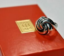 RETIRED JAMES AVERY Sterling Silver 3-D Swirl Knotted Dome Ring Sz-6 ~ W/ Box