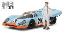 Greenlight 1:43 Gulf Porsche 917K with Steve McQueen Figure Diecast Car 86435