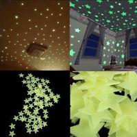 3d - licht im dunkeln leuchten sterne mauer - aufkleber decke dekor