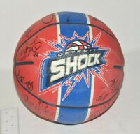 Detroit Shock WNBA Autographed Basketball Signed Spalding 12 Players Signed