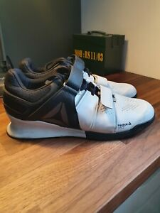 Reebok Legacy Lifter Mens Weightlifting Shoes Trainers Gym White SIZE uk10