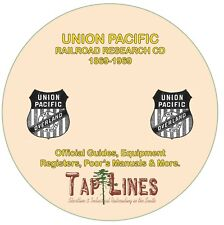 UNION PACIFIC OFFICIAL GUIDES, EQUIPMENT REGISTERS & RESEARCH SCANNED TO CD