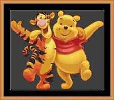 Winnie l'ourson et tigrou cross stitch kit